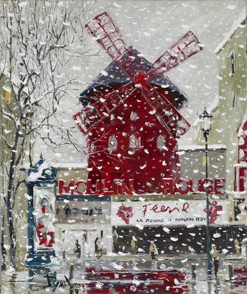 紅磨坊的雪