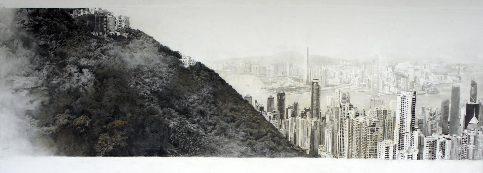香港 從太平山看維多利亞