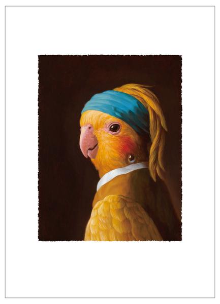 戴珍珠耳環的鸚鵡少女(1/99)