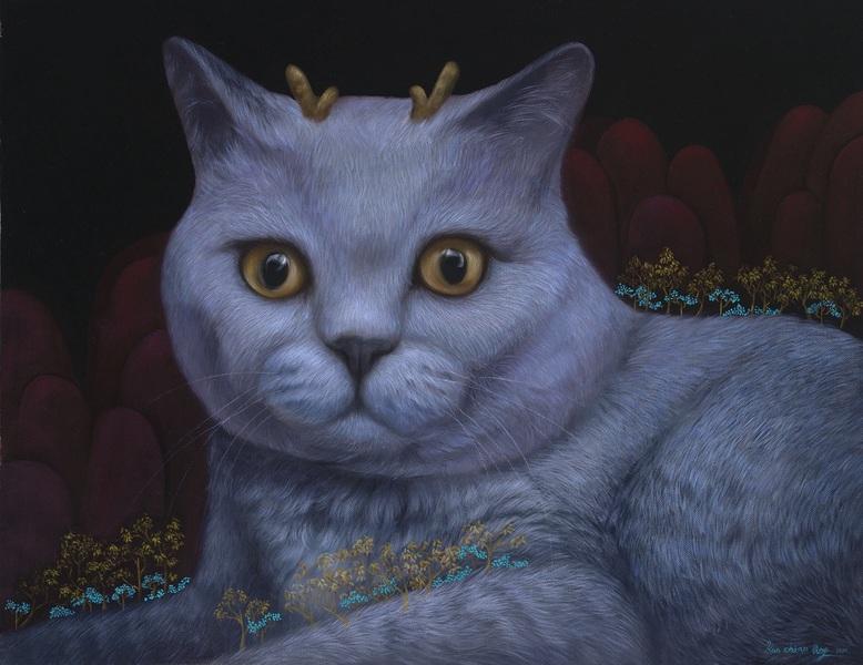 長角的藍貓- 希望